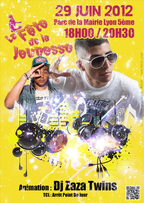 Affiche pour la Fête de la Jeunesse 2012 à Lyon (Artwork by iKeviin)