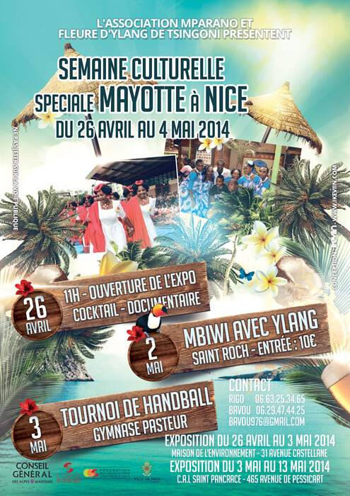 Affiche Semaine Culturelle spéciale Mayotte - Nice (Artwork by iKeviin)