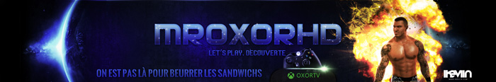 Bannière Youtube pour MrOxorHD (Artwork by iKeviin)