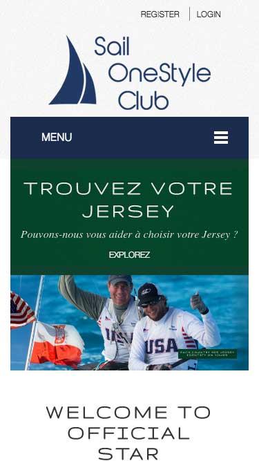 Capture d'écran du site internet de Sail réalisé par Kevin de Sousa