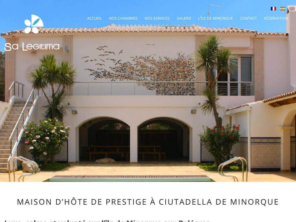 Capture d'écran du site internet SA Legitima sur iPad réalisé par Kevin de Sousa