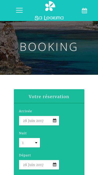 Capture d'écran du site internet SA Legitima sur iPhone réalisé par Kevin de Sousa