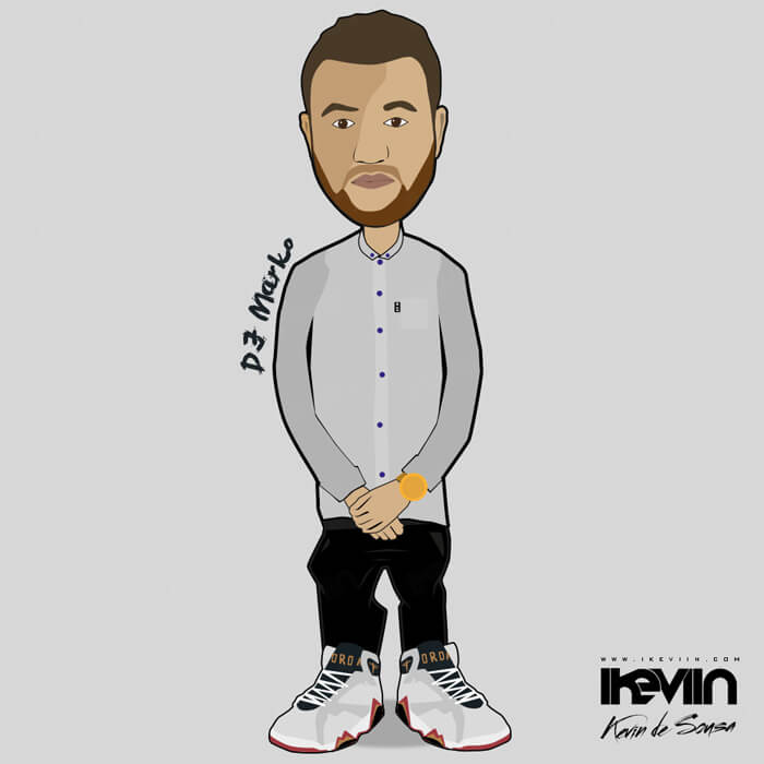 Cartoon DJ Marko (Artwork by iKeviin)
