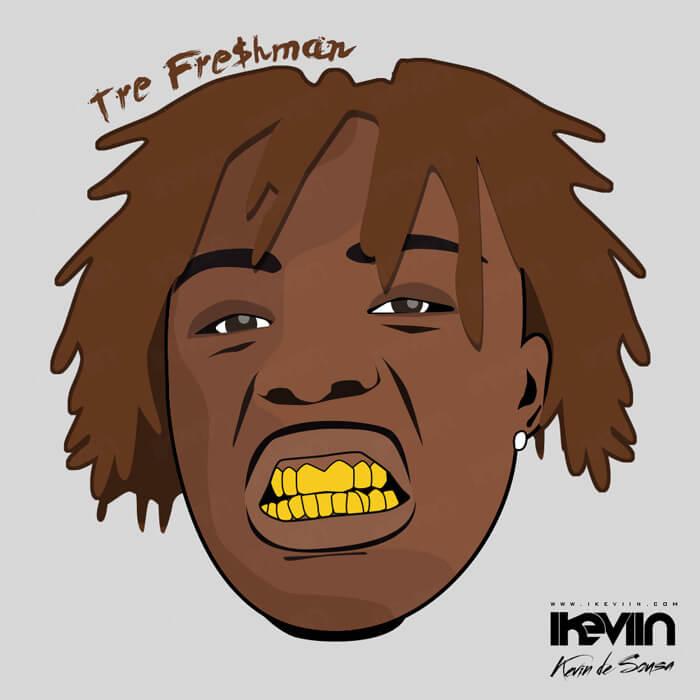 Cartoon Tre Fre$hman (Artwork by iKeviin)