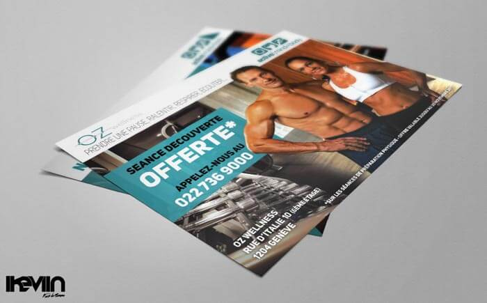 Flyer OZ Wellness Genève imprimé (Artwork by iKeviin)