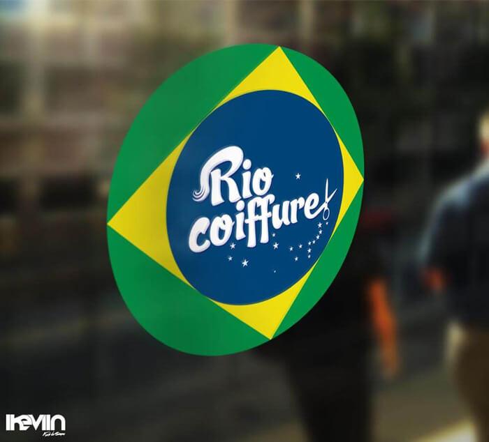 Logotype Rio Coiffure Lausanne réalisé par iKeviin - Kevin de Sousa