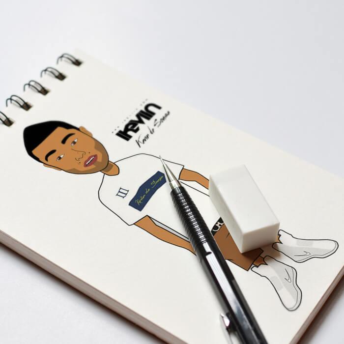 Vous souhaitez avoir votre portrait en cartoon, iKeviin s'en charge dans un délai de 48 heures pour 50,00 euros seulement (paiement sécurisé par Paypal).