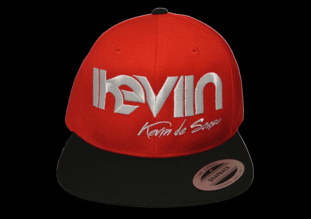 Casquette snapback iKeviin - Kevin de Sousa officielle rouge avec la visière noire