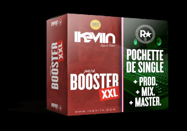 Pack Booster XXL (Pochette de single réalisée par iKeviin – Kevin de Sousa et une prod. + mixage/mastering réalisée par le label Red Star)
