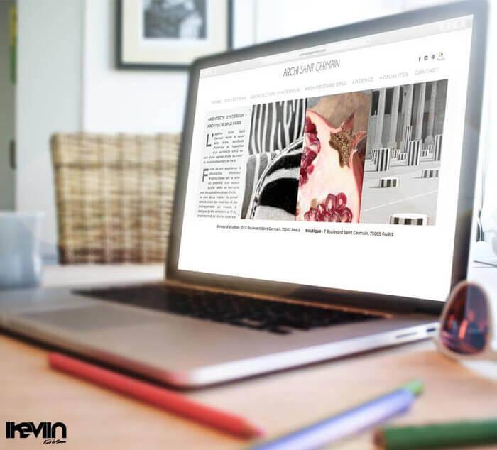 Site internet Archi Saint Germain réalisé par Kevin de Sousa