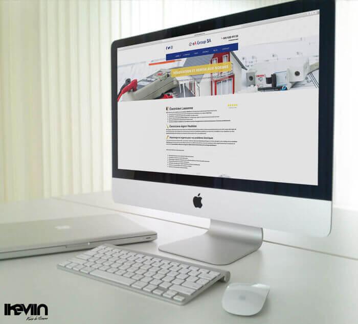 Site internet Electricien Lausanne réalisé par Kevin de Sousa