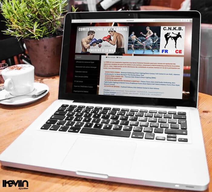 Site internet Kick France réalisé par Kevin de Sousa