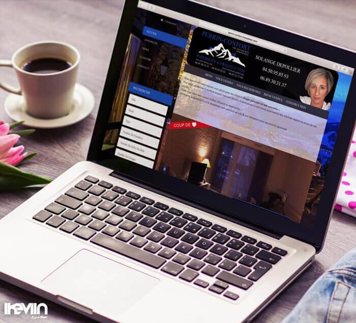 Site internet Perrin-Confort Immobilier réalisé par Kevin de Sousa