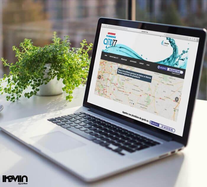 Site internet Plombier77 réalisé par Kevin de Sousa