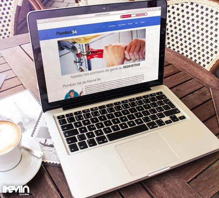 Site internet Plombier94 réalisé par Kevin de Sousa