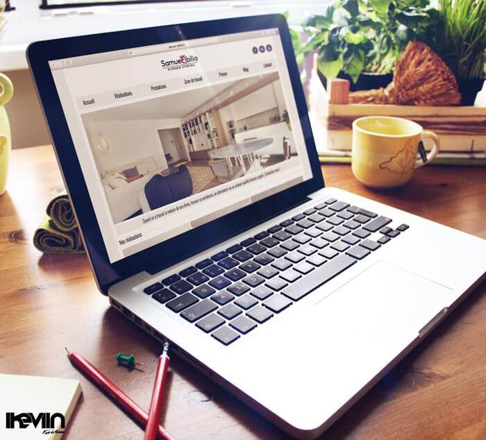 Site internet Samuel Elbilia réalisé par Kevin de Sousa