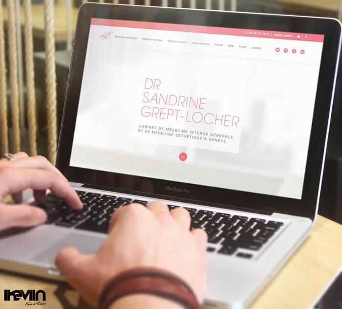 Site internet SGL Esthétique réalisé par Kevin de Sousa